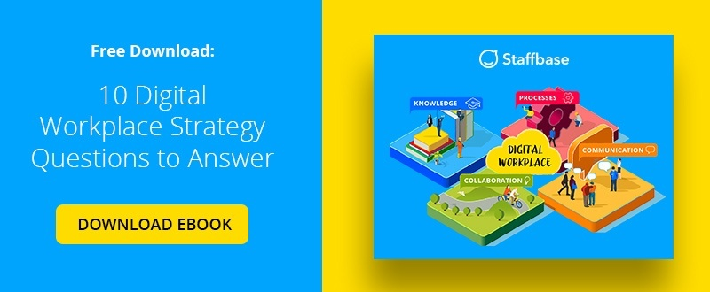 Free Download Ebook – 10 Digital Workplace Strategy Questions to Answer