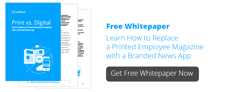 Print versus Digital – How to Replace a Printed Employee Magazine with an Internal Communications App