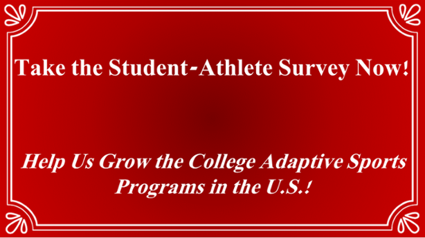 college adaptive sports programs research athlete survey