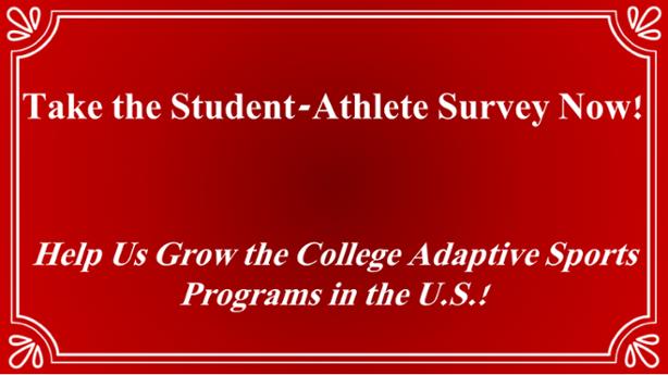 college adaptive sports programs research athlete survey