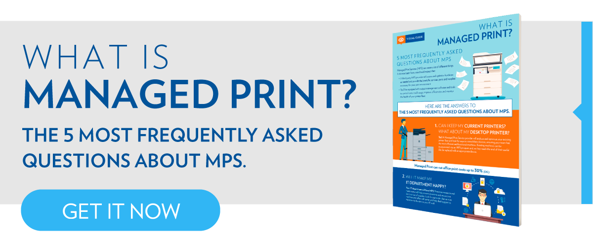 What is Managed Print Infographic CTA Tall