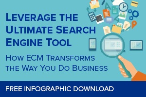 Benefits of ECM for business infographic