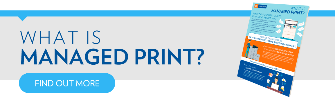 What is Managed Print Infographic CTA