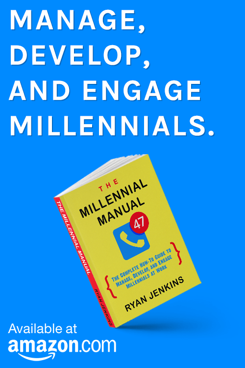 The Millennial Manual By Ryan Jenkins - Available on Amazon