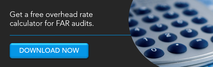overhead rate calculator for FAR audits