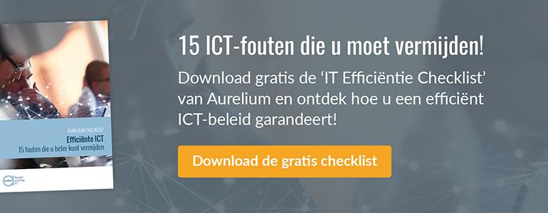 15 ICT-fouten die u moet vermijden! Download de checklist.