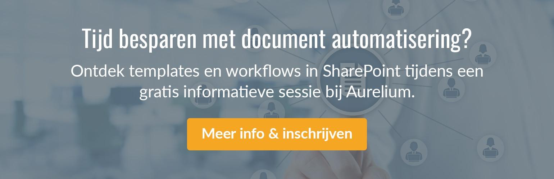 Schrijf in voor een gratis SharePoint infosessie.