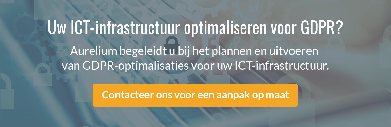Uw ICT-infrastructuur optimaliseren voor GDPR? Contacteer ons voor een aanpak op maat.