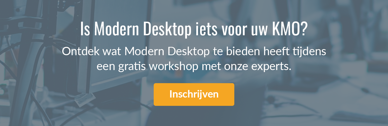 Is Modern Desktop iets voor uw KMO? Schrijf nu in voor een gratis workshop.