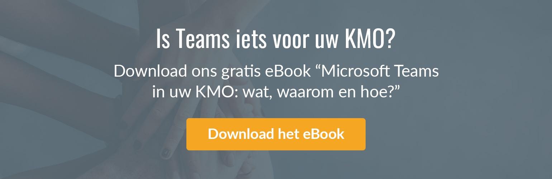 """Download het gratis """"Teams in uw KMO"""" eBook."""