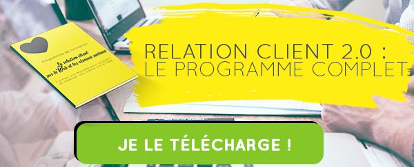 programme formation relation client web réseaux sociaux