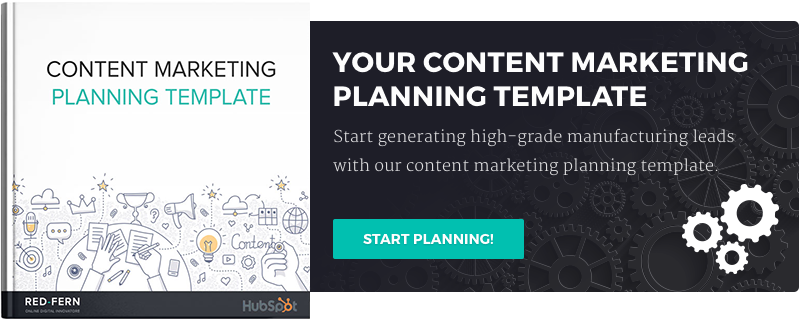 manufacturing content template