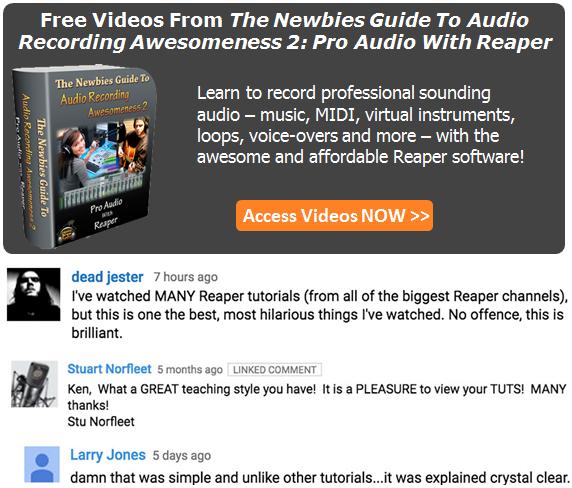 Reaper Tutorial Free Videos