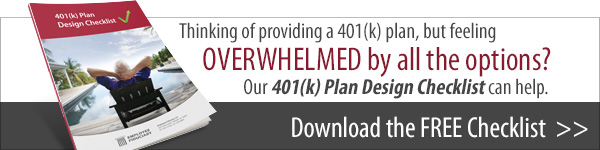 Download your free 401(k) Plan Design Checklist.
