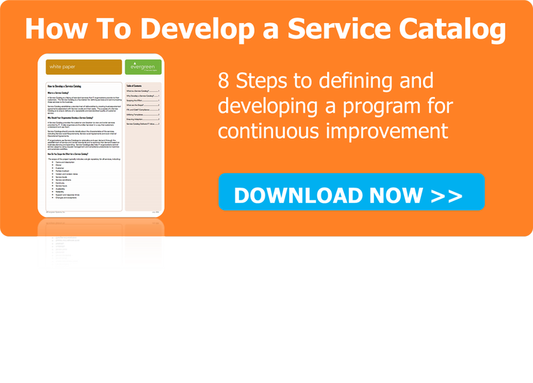 How To Develop a Service Catalog White Paper
