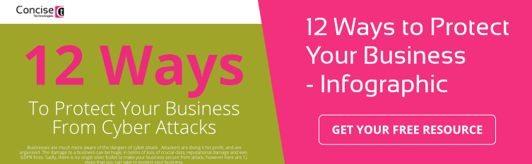 protect your business from cyber attack 12 ways infographic