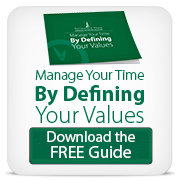Download the free guide to managing your time by defining your values
