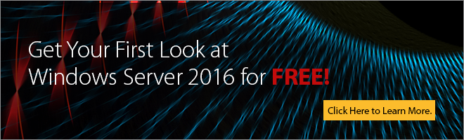 Get the Microsoft On-Demand Windows Server 2016 First Look Clinic for Free!