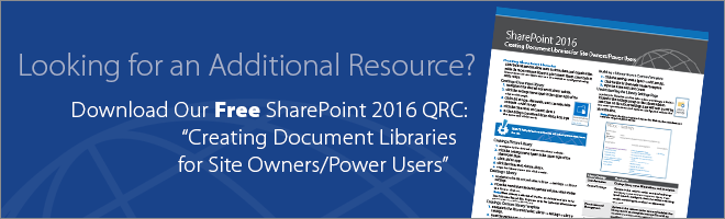 Get Our Microsoft SharePoint QRC