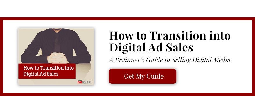 Transitioning into digital ad sales