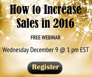 How to Increase Sales in 2016 Free Webinar Register