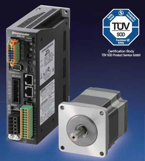 AZ series driver and absolute stepper motor with TUV