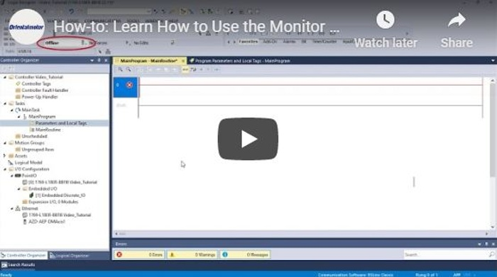 OM How-To Video: using AOI to monitor motor status