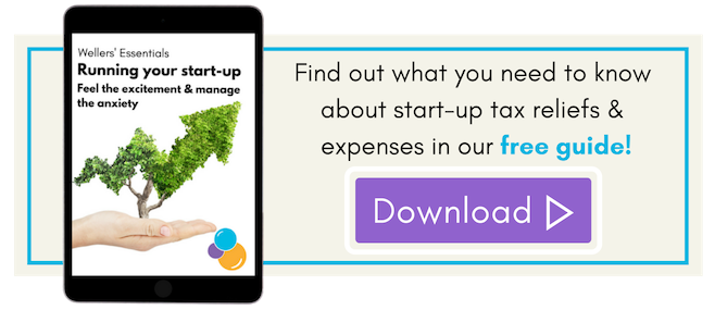 Start-up tax reliefs and expenses free guide, Wellers.