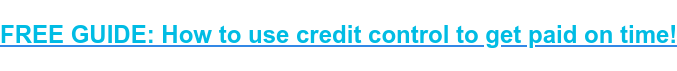 FREE GUIDE: How to use credit control to get paid on time!