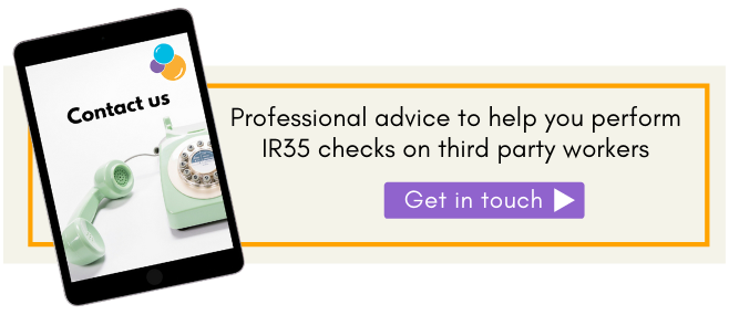 Get IR35 checks performed on your third party workers