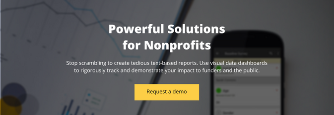 Request a demo of the solution for nonprofits by SocialCops