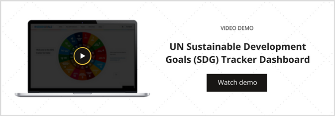 Watch a demo of the UN Sustainable Development Goals (SDG) Tracker Dashboard