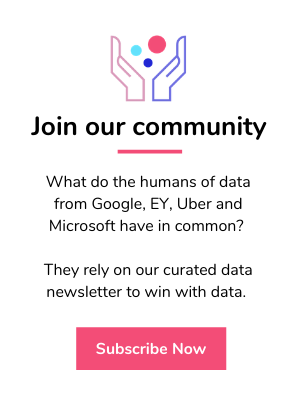 Subscribe to the humans of data newsletter