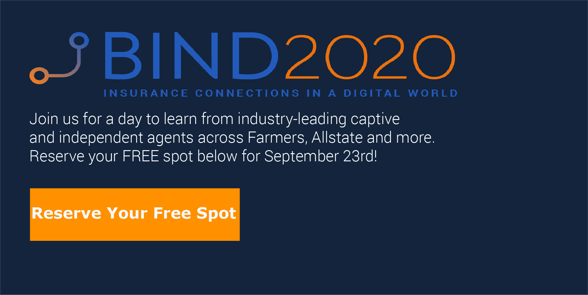 Join EverQuote for a day to learn from industry-leading captive and independent agents across Farmers, Allstate and more. Reserve your FREE spot below for September 23rd!