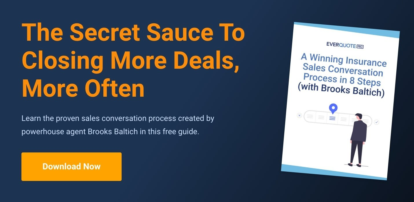 A Winning Insurance Sales Conversation Process in 8 Steps with Brooks Baltich