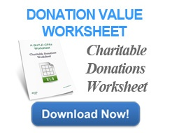 Download the Charitable Donations Worksheet