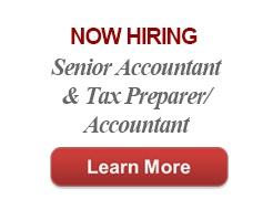Now Hiring Senior Accountant and Tax Preparer