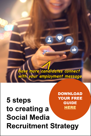Download your free guide: 5 Steps to Creating a Social Media Recruiting strategy