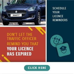 Register for your license reminders