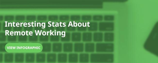 infographic on remote working stats