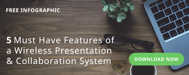 Info graphic 5 Must Have Features of a Wireless Presentation