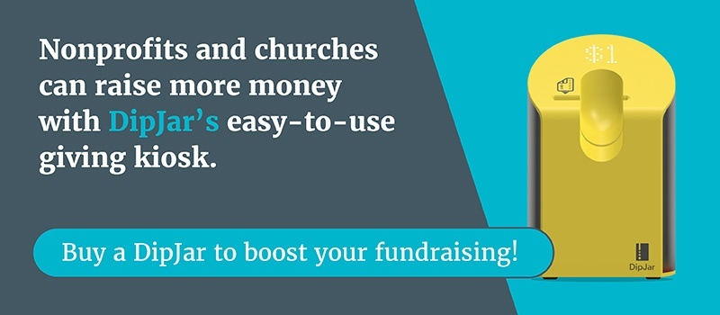 Your nonprofit or church can use DipJar as an easy-to-use giving kiosk.