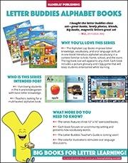 Letter Buddies Alphabet Books Sales Sheet