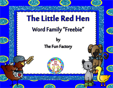 Little Red Hen Word Family Packet Download