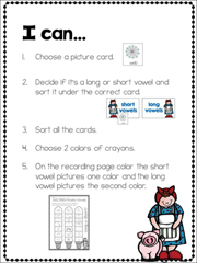 Mrs. Wishy-Washy Vowel Packet