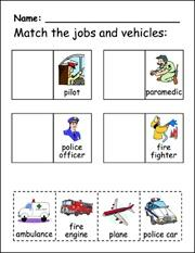 Community Helper Matching and Pocket Chart