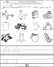 Letter Buddies Initial Sounds Worksheets