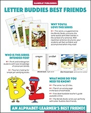 Letter Buddies Best Friends Sales Sheet