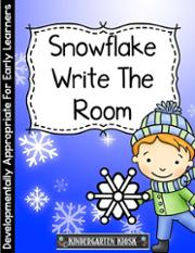 Snowflake Write the Room Activity