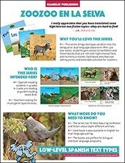 Zoozoo En La Selva Sales Sheet